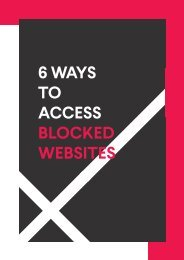 6 Ways To Access Blocked Websites