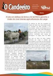 A luta em defesa da terra e do territ?rio garante o modo de viver dos/as agricultores/as da Larga