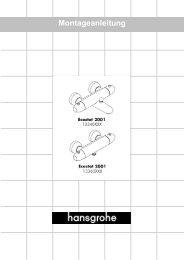 Ab • ist die Funktion gewährleistet - Hansgrohe