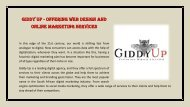 Giddy Up - Offering Web Design and Online Marketing Services