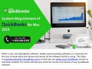 System Requirement of QuickBooks for Mac 2019 and Older Versions