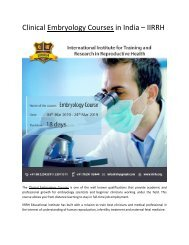 Clinical Embryology Courses in India – IIRRH