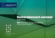 PTE MK ZMI Kamarakoncert-sorozat 2019 tavasz
