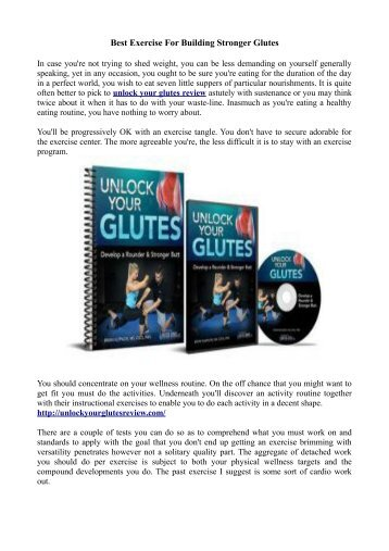 Best Exercise For Building Stronger Glutes