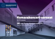 PTE MK ZMI Kamarakoncert-sorozat 2018 tavasz