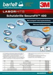 3M Schutzbrille SecureFit Schutzbedarf Laborausstatter Bartelt