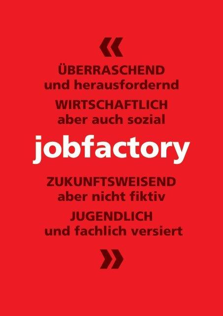 Imagebroschüre Jobfactory 2019