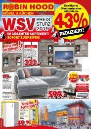 WSV! Preissturz im gesamten Sortiment! Robin Hood Möbel und Küchen, 78166 Donaueschingen
