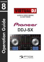 Pioneer DDJ-SX VirtualDJ Operation Guide