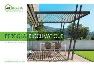 Collection Pergolas bioclimatiques Art-Home-Alu
