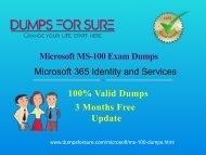 Microsoft MS-100 Dumps