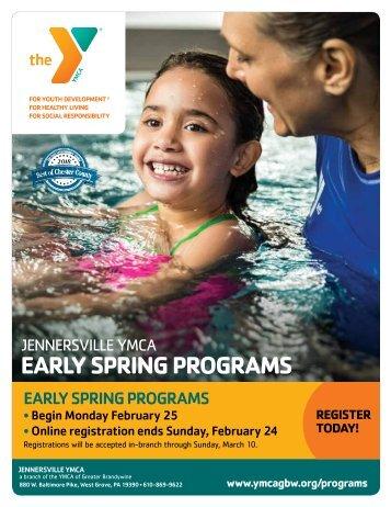 Jennersville YMCA Early Spring Program Guide 2019