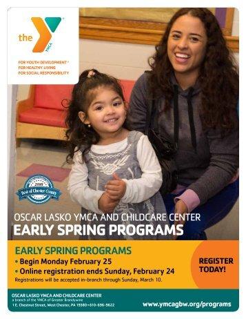 Oscar Lasko YMCA Early Spring Program Guide 2019