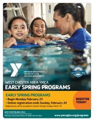 West Chester Area YMCA Early Spring Program Guide 2019