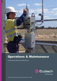 ECOTECH Operations and Maintenance brochure
