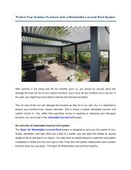 Protect Your Outdoor Furniture with a Retractable Louvred Roof System