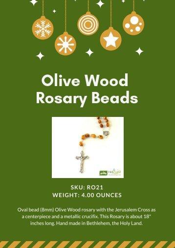 Beautiful Olive Wood Oval Bead Rosary