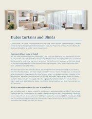 Curtain Installation Dubai