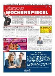 Dübener Wochenspiegel - Ausgabe 02 - Jahrgang 2019
