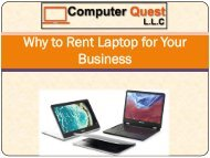 Why to Rent Laptop for Your Business