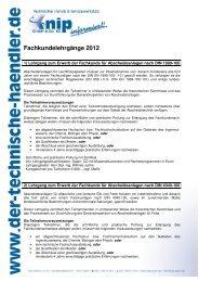 Anmeldeformular Fachkundelehrgänge 2012 - bei Knip Berlin