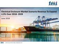 Electrical Enclosure Market To register a CAGR 4.9% during 2018- 2028