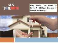 Why Would One Need To Have A 24-Hour Emergency Locksmith Service