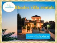 Rhodes Villa Rentals at Greece