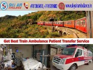 Book Best and Fast Sky Medical Train Ambulance from Mumbai to Delhi
