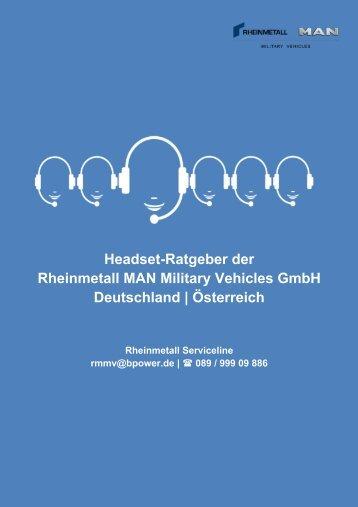 Headsets der Rheinmetall MAN Military Vehicles GmbH_2