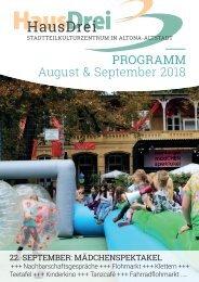 HausDrei Programm August/ September 2018