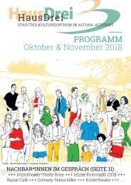 HausDrei Oktober/ November 2018