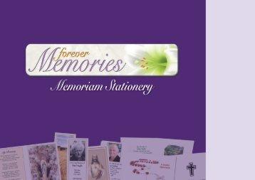 Forever Memories - Memoriam  Stationary