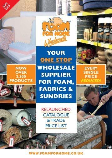 Foam For Home Trade Brochure 2019