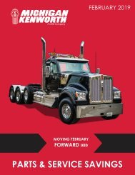 Moving February Forward! Parts and Service Specials from Michigan Kenworth