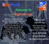 BigProfit is India's No.1 Share market Tips, Stock Tips & Commodity Tips app