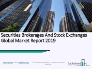 Securities Brokerages And Stock Exchanges Global Market Report 2019