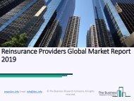 Reinsurance Providers Global Market Report 2019