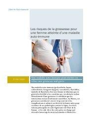Les risques de la grossesse pour une femme atteinte d'une maladie auto-immune
