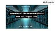 Unisecure Data Centers is 71% cheaper than AWS and Google Cloud