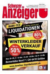Schwyzer Anzeiger – Woche 6 – 8. Februar 2019