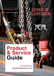 John W Laycock Product & Service Guide 2019