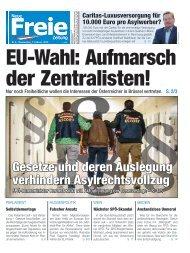 EU-Wahl: Aufmarsch der Zentralisten!