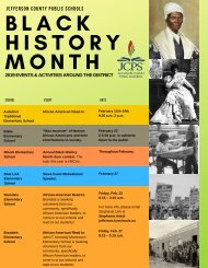 JCPS Black History Month Events