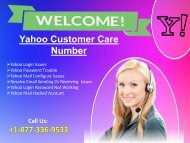 Yahoo Support Number +18775030107  For USA