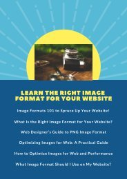 Learn the Right Image Format for Your Website