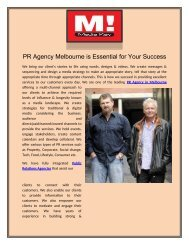 PR Agency Melbourne is Essential for Your Success