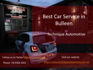 Best Car Service in Bulleen - Technique Automotive
