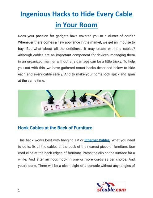 8 Ingenious Hacks to Hide Every Cable in Your Room