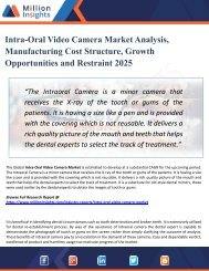 Intra-Oral Video Camera Market Forecasting to Development Ratio with Huge Marginal Revenue Analysis Detailing by 2025